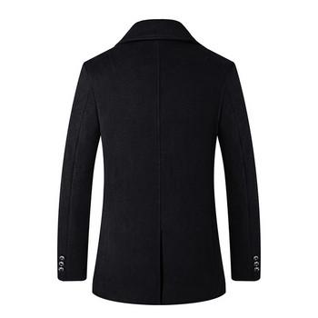 Официално мъжко палто в черен цвят