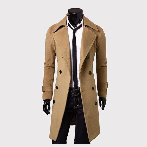 Κομψό ανδρικό μακρύ παλτό σε τρία χρώματα - Badu.gr Ο κόσμος στα χέρια σου a13e8f923e1