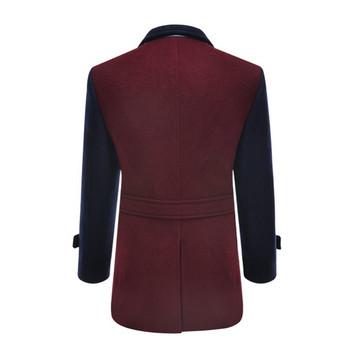 Модерно мъжко плътно палто в преливащи цветове