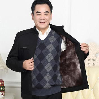 Стилно мъжко яке с мека подплата в черен цвят