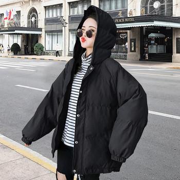 Γυναικείο μοντέρνο μπουφάν με κουκούλα σε διάφορα χρώματα