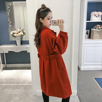 Γυναικείο κομψό μακρύ παλτό με κόκκινο χρώμα - Badu.gr Ο κόσμος στα ... 8f206390d12
