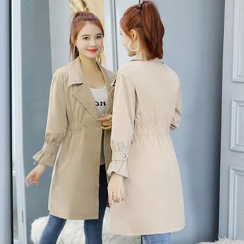 Стилен дамски шлифер в два цвята