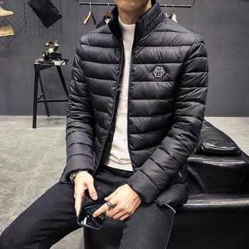 Семпло мъжко яке с емблема в няколко цвята