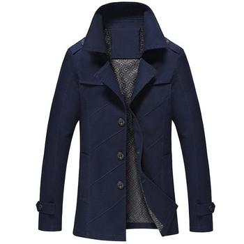 Модерен мъжки шлифер в пет цвята