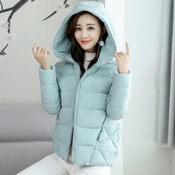 Дамско стилно яке  с качулка в няколко цвята
