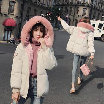 Γυναικείο κομψό μπουφάν με κουκούλα σε τρία χρώματα