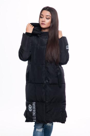 НОВО дълго дамско яке за зимата в черен, сив, зелен и червен цвят