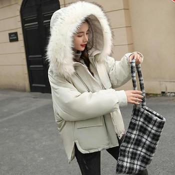 Γυναικέιο μπουφάν με κουκούλα σε τέσσερα χρώματα