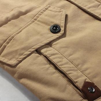 Модерно мъжко яке с плътна потплата с качулка в няколко цвята