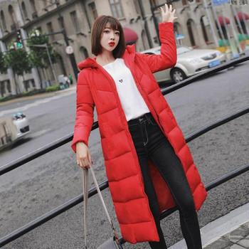 Μακρύ χειμωνιάτικο γυναικέιο μπουφάν  σε πέντε χρώματα