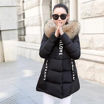 Γυναικείο χειμωνιάτικο μπουφάν με κουκούλα σε διάφορα χρώματα