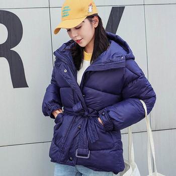 Дамско стилно яке в четири цвята с колан