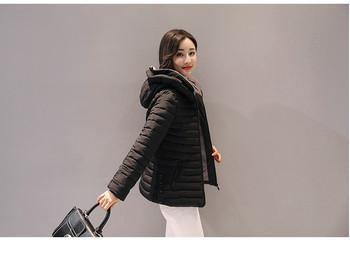 Μοντέρνο γυναικείο μπουφάν με κουκούλα σε δύο χρώματα