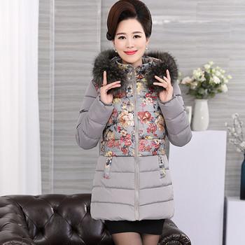 Γυναικείο μπουφάν σε floral μοτίβα σε τέσσερα χρώματα