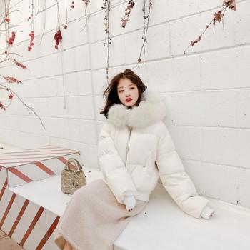 ΝΕΟ μοντέλο γυναικείο μοντέρνο μπουφάν με κουκούλα σε δύο χρώματα