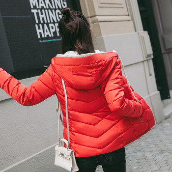 Дамско модерно яке с качулка в  няколко цвята