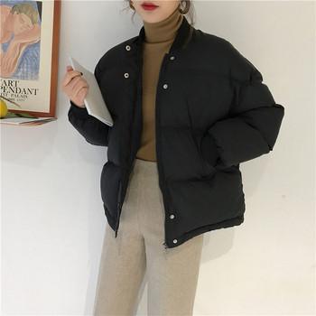 Γυναικείο μοντέρνο μπουφάν με μεταλλικά κουμπιά σε τρία χρώματα