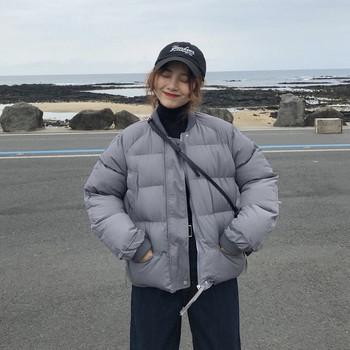 Χειμερινό σακάκι για γυναίκες με O-κολάρο σε διάφορα χρώματα