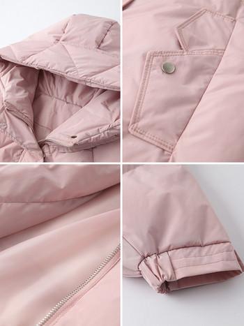 Κυρίες κομψό σακάκι με κουκούλα σε τρία χρώματα