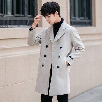 Κομψό ανδρικό παλτό για το φθινόπωρο και το χειμώνα σε τέσσερα χρώματα e6ba1ee9bdb