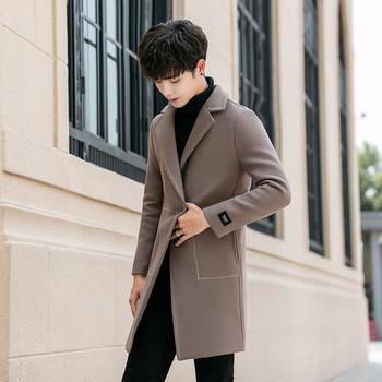 Νέο κομψό ανδρικό παλτό σε τέσσερα χρώματα - Badu.gr Ο κόσμος στα ... 29f26da76cd