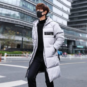 Стилно мъжко зимно яке с качулка в няколко цвята