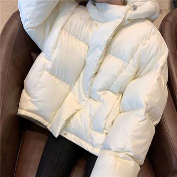 Χειμερινό σακάκι με κουκούλα σε τρία χρώματα