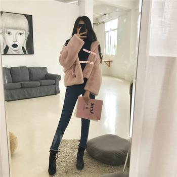 Μοντέρνο γυναικείο σακάκι σε δύο χρώματα - κόκκινο και ροζ