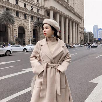 Κομψό μακρύ παλτό σε διαφορετικά χρώματα