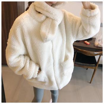 Ζεστό σακάκι με τσέπες και κασκόλ σε διάφορα χρώματα
