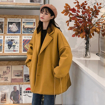 Κομψό γυναικείο παλτό με κίτρινο και μαύρο σχέδιο - Badu.gr Ο κόσμος ... 0e2028bde33
