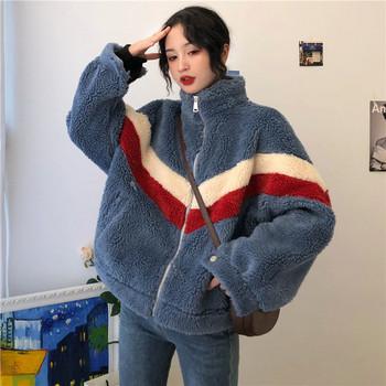 Ежедневно дамско яке - широк модел в два цвята