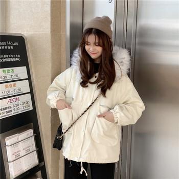 Νέο χειμερινό σακάκι γυναικείο μοντέλο με κουκούλα σε δύο χρώματα