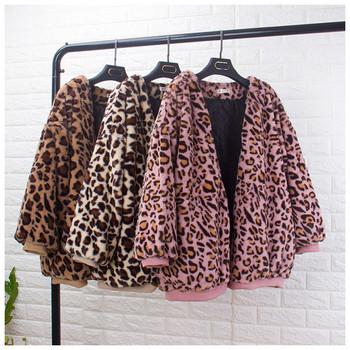 Μοντέρνο γυναικείο μπουφάν σε λεοπάρδαλη εκτύπωση - τρία χρώματα