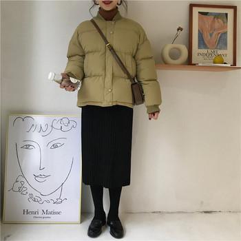 Καθημερινή κυρία χειμωνιάτικη σακάκι μικρό μοντέλο σε διάφορα χρώματα