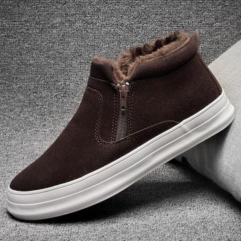Μοντέρνο χειμερινό παπούτσι για άνδρες με απαλό ιδρώτα σε τέσσερα χρώματα 2cf55a5fe09