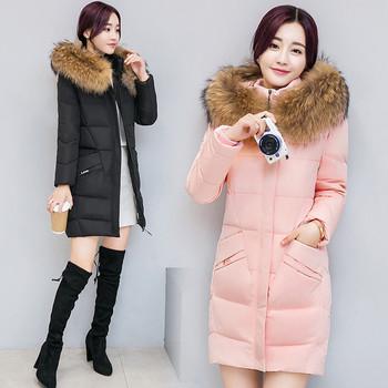 Μοντέρνο γυναικείο μπουφάν με κουκούλα και καρφίτσα σε διάφορα χρώματα - δύο μοντέλα