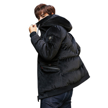 ХИТ Актуално зимно мъжко яке с качулка в няколко цвята