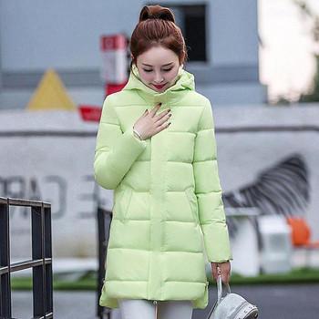 Дамско зимно яке с копчета в няколко цвята