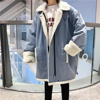 Μοντέρνο γυναικείο τζιν σακάκι με τσέπες και απαλή επένδυση σε μπλε χρώμα
