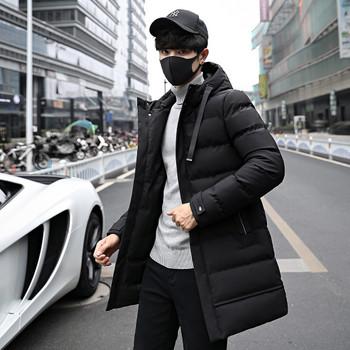 Нов модел мъжко зимно яке с джобове и качулка в три цвята