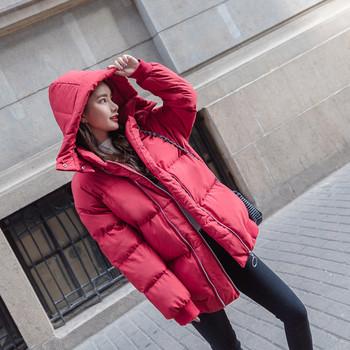 Γυναικεία μοντέρνα σακάκι με κουκούλα