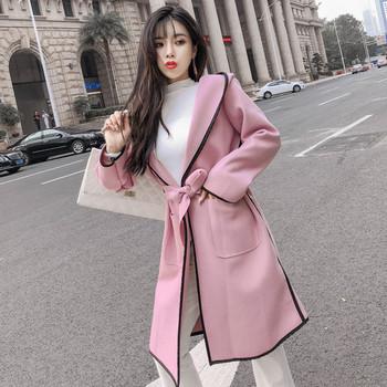 Κυρίες μακρύ παλτό με κουκούλα και τσέπες σε δύο χρώματα - Badu.gr Ο ... d5b4c8d5af7
