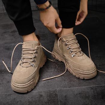 Ανδρικά πάνινα παπούτσια χειμωνιάτικων ατόμων με παχιά σόλα σε τρία χρώματα cf80e7ef4fe