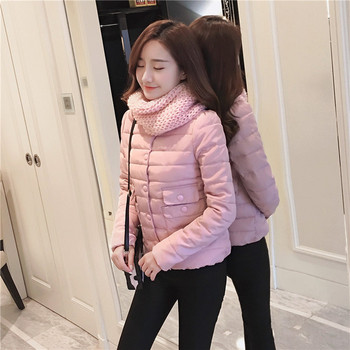Γυναικείο σακάκι με κουμπιά σε ροζ και γκρι