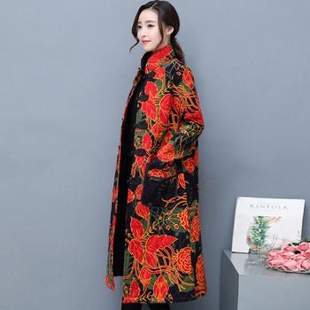 Μοντέρνο γυναικείο μπουφάν με floral μοτίβο