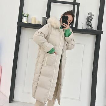 Γυναικείο μοντέρνο χειμωνιάτικο σακάκι με δύο χρωματιστές ταπετσαρίες