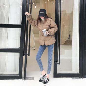 Νέο γυναικείο μπουφάν με ζώνη σε τρία χρώματα