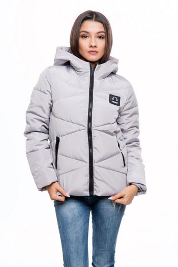 НОВО модерно дамско яке за зимата в черен, розов и сив цвят